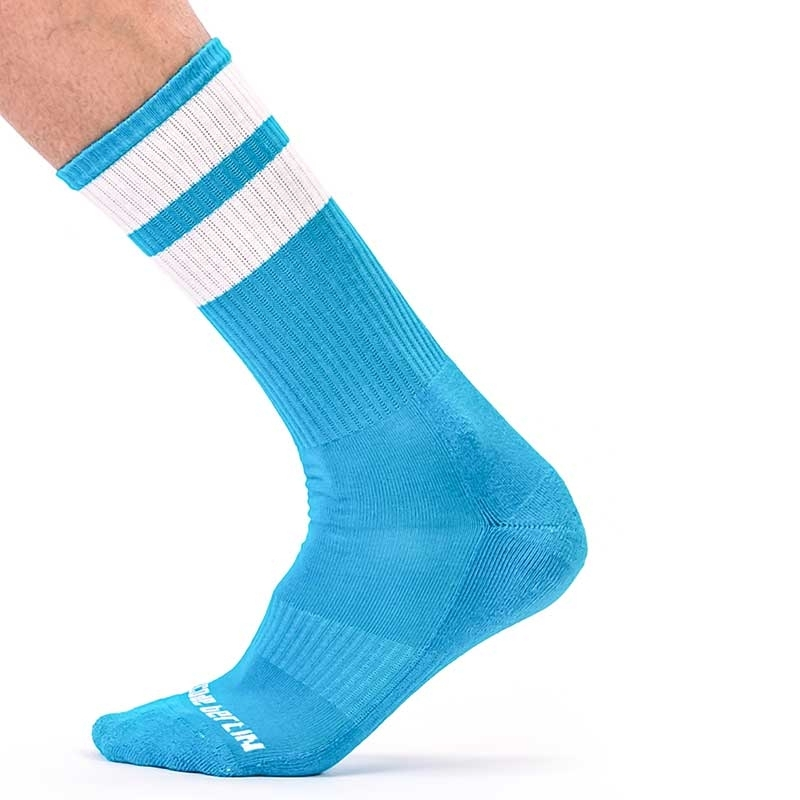 BARCODE Berlin STOCKING gym comfort 91366 Street Wear socks light blue