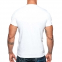 ADDICTED T-SHIRT military AD610 base for everyone in white