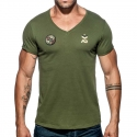 ADDICTED T-SHIRT military AD610 base for everyone in oliv green