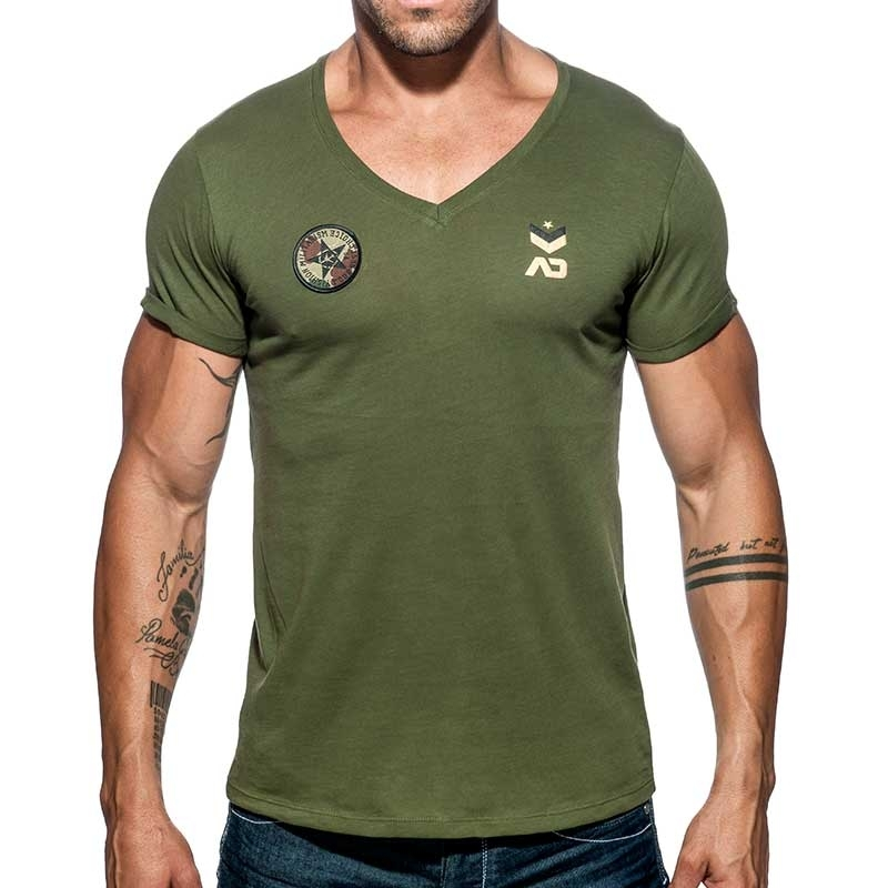 ADDICTED T-SHIRT military AD610 base for everyone in olive green