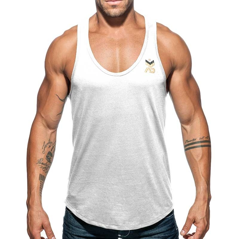 ADDICTED TANK TOP military AD611 base for everyone in white