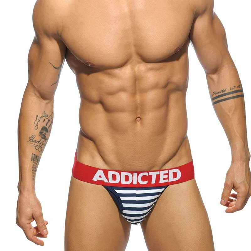 ADDICTED JOCK sailor stripes AD512 Bug mit red railing
