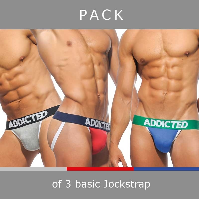 ADDICTED JOCK basic AD363P in a 3-value pack