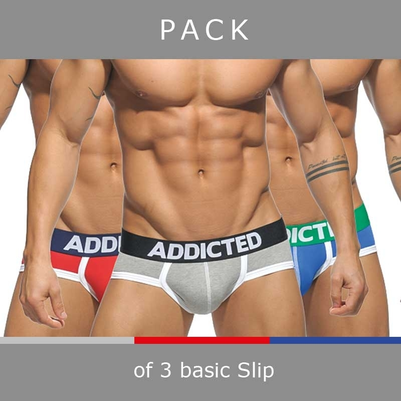 ADDICTED BRIEF basic AD301 in a 3-value pack