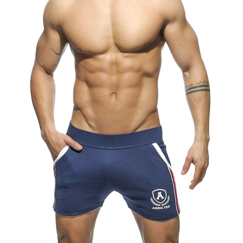 ADDICTED SHORTS tight sprint AD337 the super navy intercotton