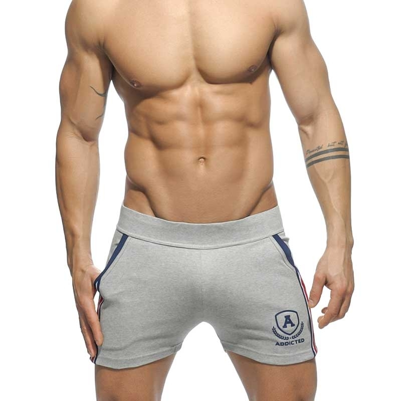 ADDICTED SHORTS enger sprint AD337 die super light grey intercotton
