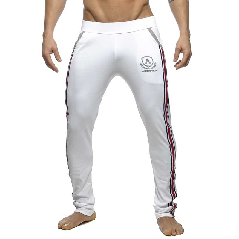 ADDICTED SPORTHOSE langer sprint AD335 die super white intercotton