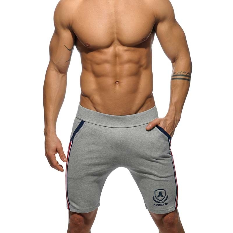 ADDICTED Sport SHORTS medium sprint AD336 die super grey