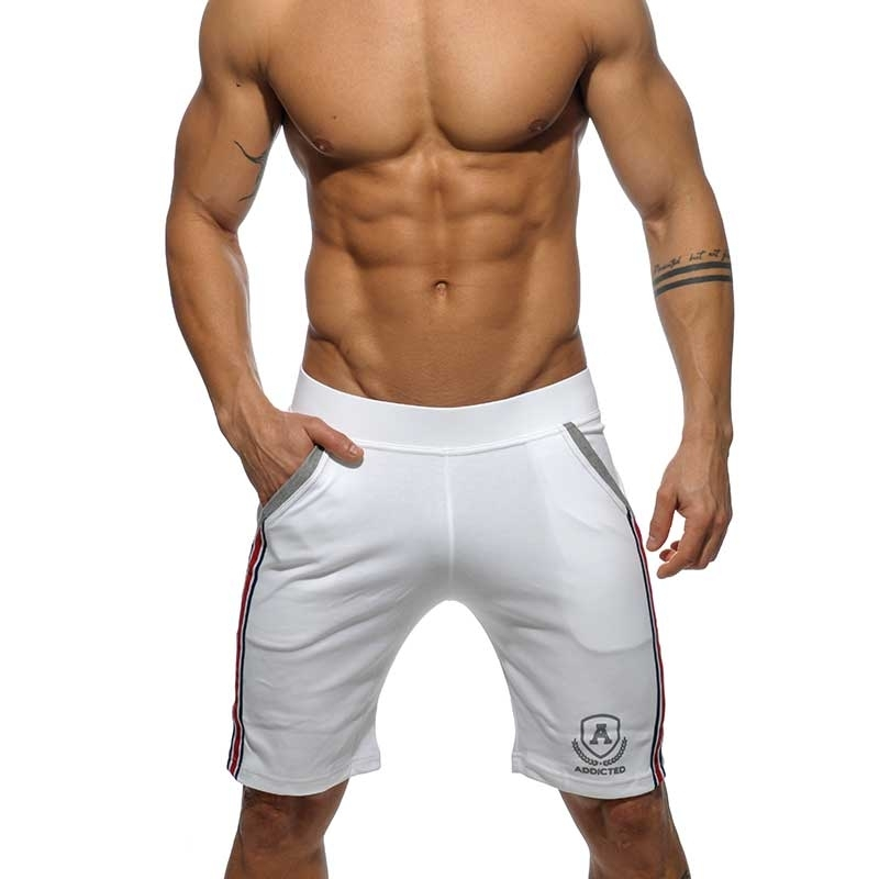 ADDICTED Sport SHORTS medium sprint AD336 die super white