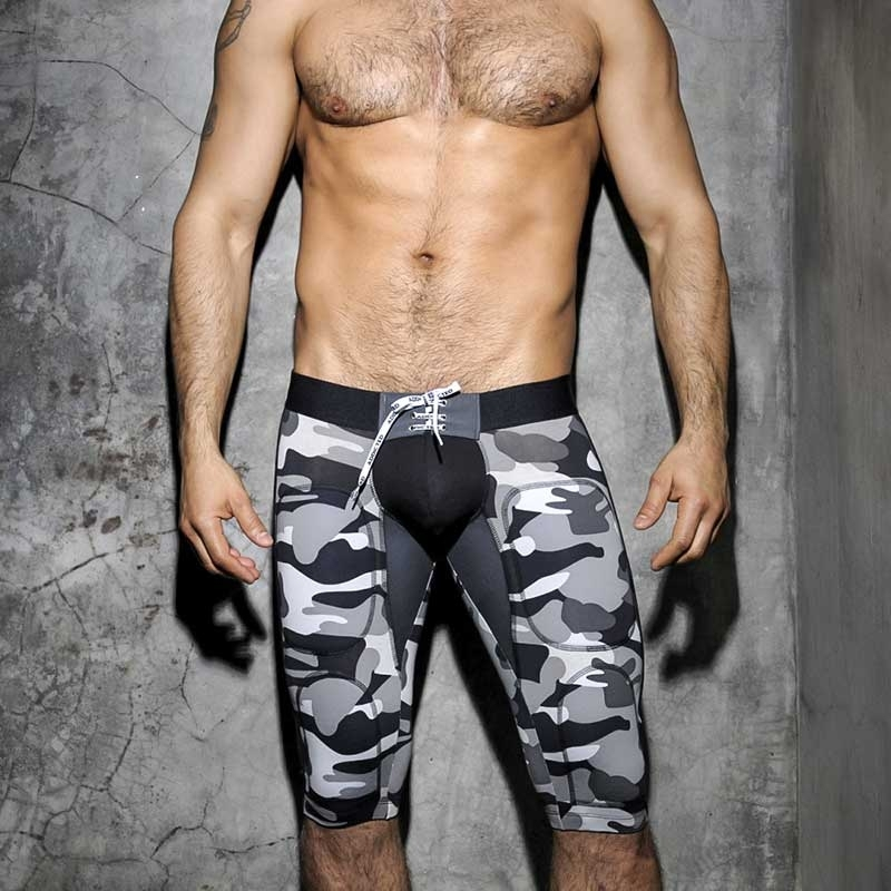 ADDICTED KNIE PANTS tie up AD235-adf army camo in black