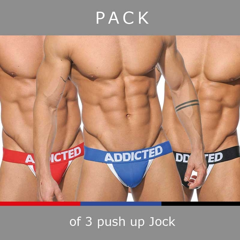 ADDICTED JOCKs push up AD205P in a 3-value pack