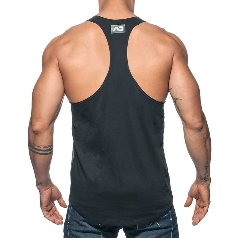 ADDICTED TANK TOP combi AD584 camo flash in oliv black