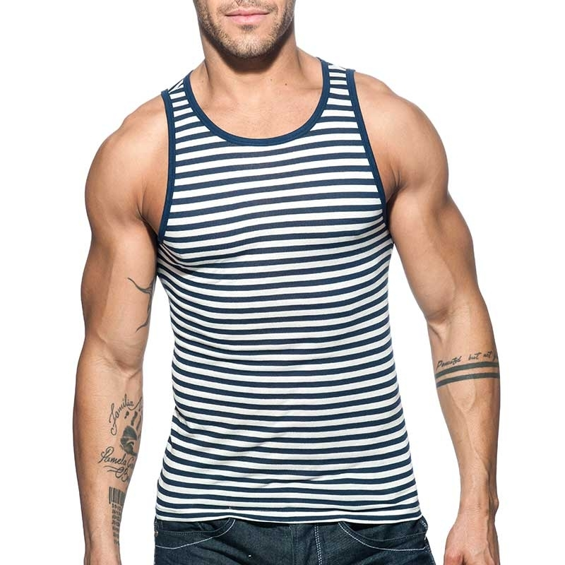 ADDICTED TANK TOP sailor AD588 gestreift im Marine Look
