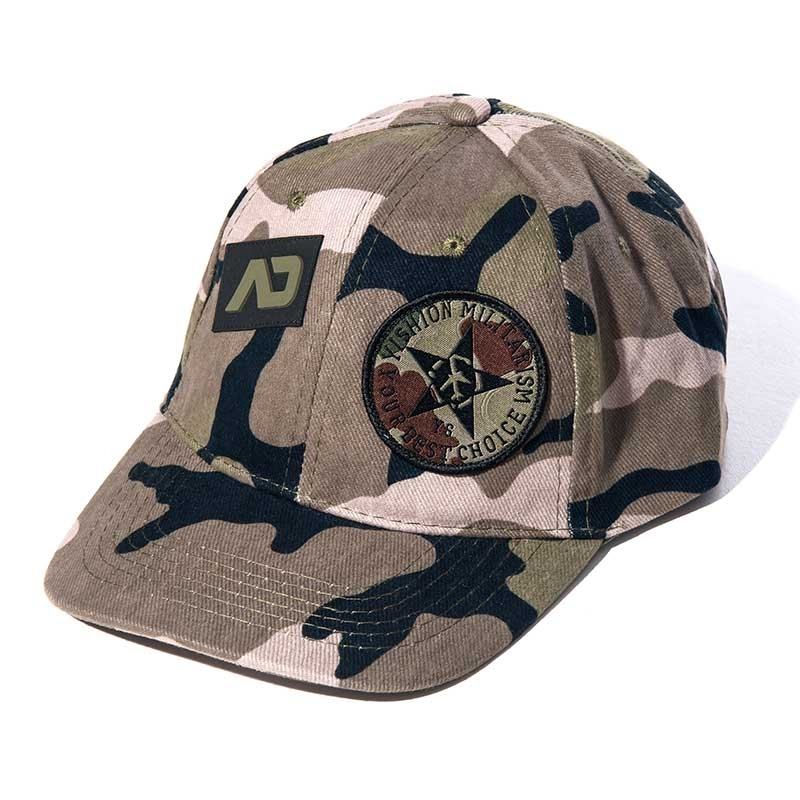 ADDICTED CAP army camo AD687 design im 6-Paneel Look
