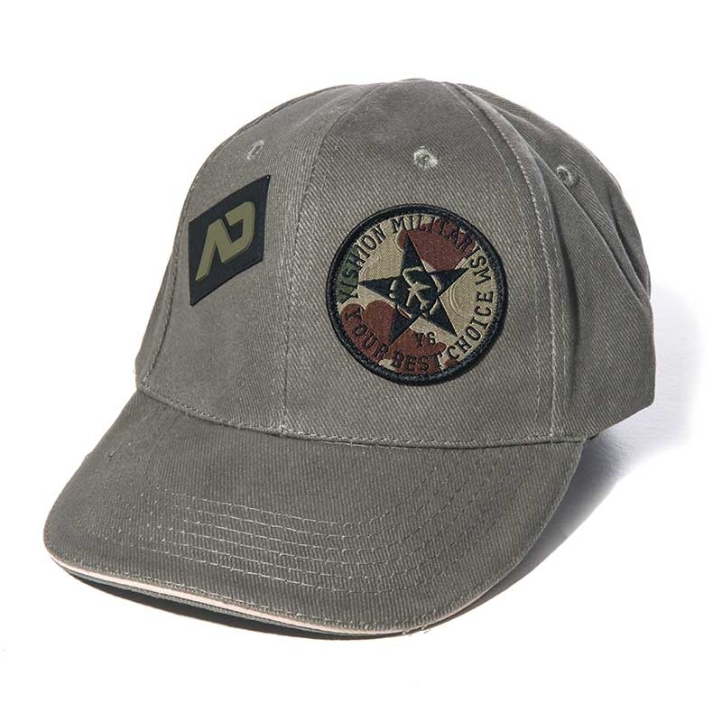 ADDICTED CAP army olive AD687 design in 6-panel look