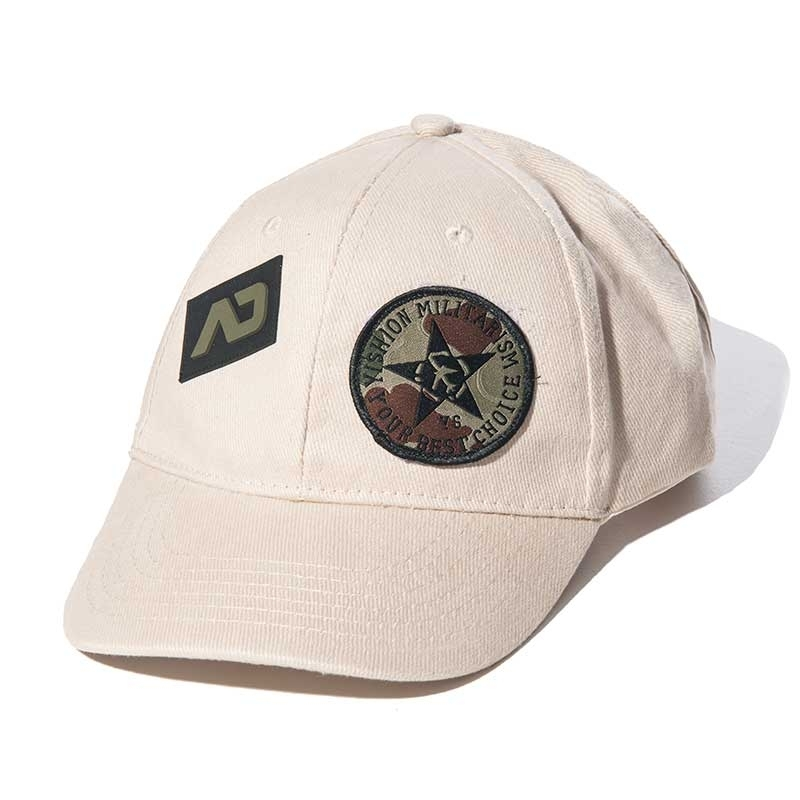ADDICTED CAP army sand AD687 design in 6-panel look