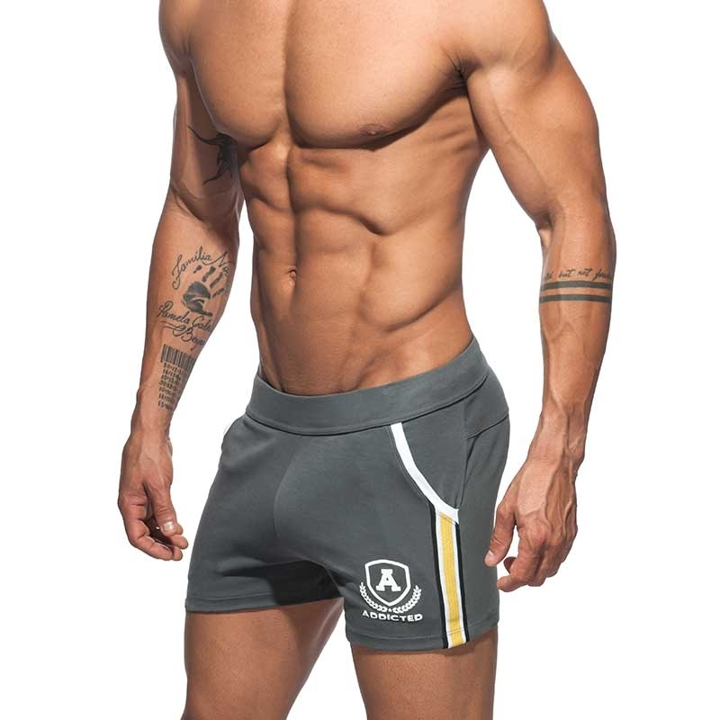 ADDICTED SHORTS tight sprint AD337 the super dark grey intercotton