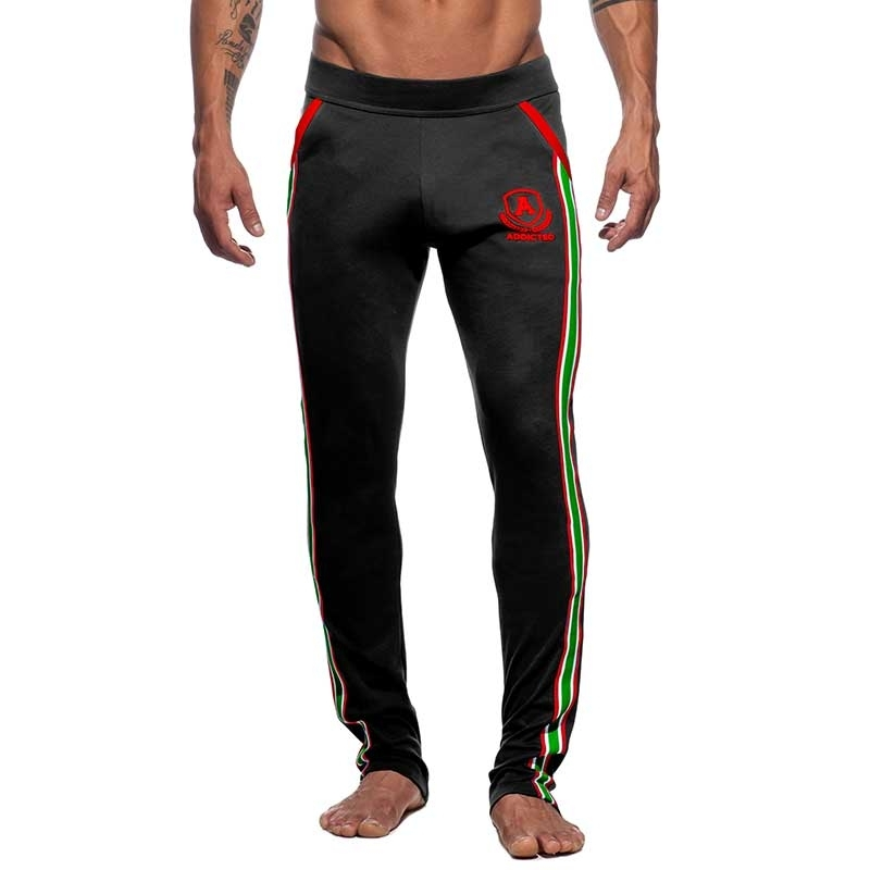 ADDICTED SPORTHOSE langer sprint AD335 die super black intercotton
