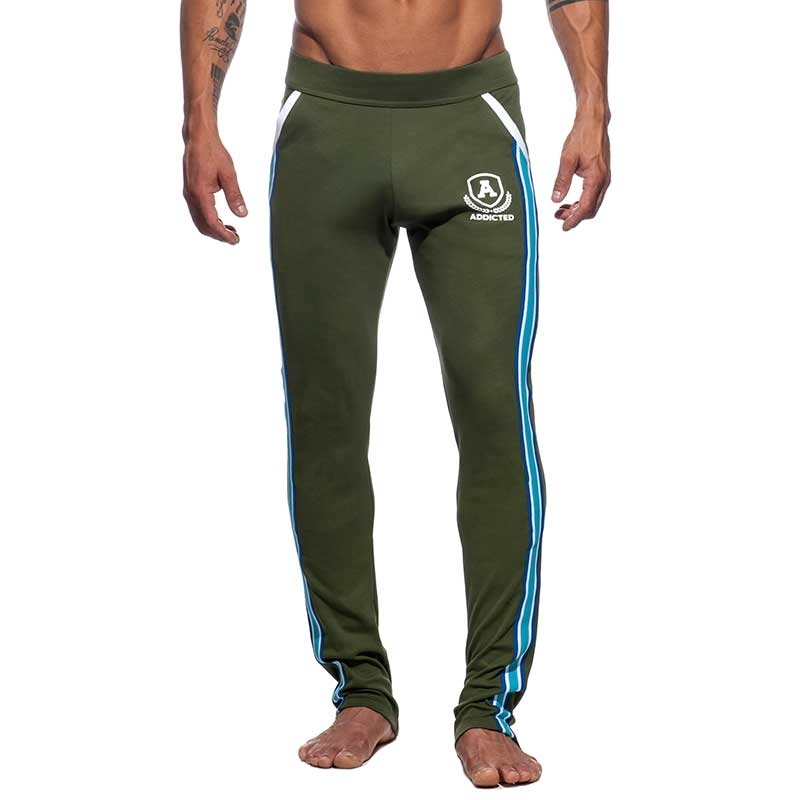 ADDICTED SPORTHOSE langer sprint AD335 die super khaki oliv intercotton