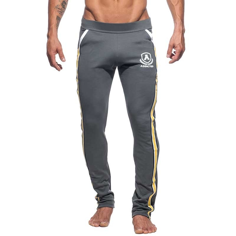 ADDICTED SPORTPANTS long sprint AD335 the super dark grey intercotton