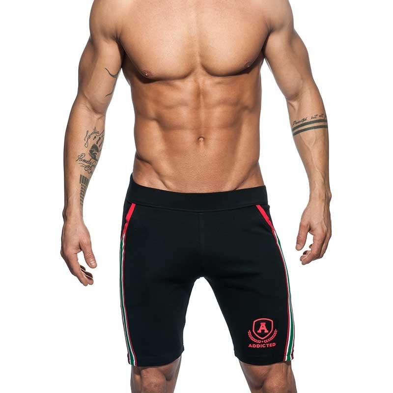 ADDICTED SHORTS medium sprint AD336 die super black intercotton