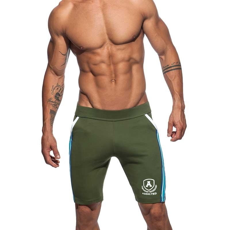 ADDICTED SHORTS medium sprint AD336 die super khaki oliv intercotton