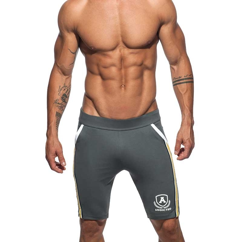 ADDICTED SHORTS medium sprint AD336 die super dark grey intercotton