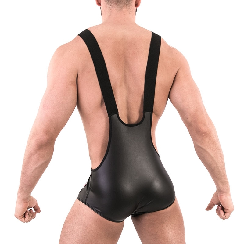 BARCODE Berlin BODY wet singlet 91492 Ringer suit in black