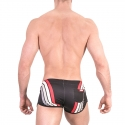 BARCODE Berlin SHORTS athletik 91485 training in anthrazit mit rotem Band
