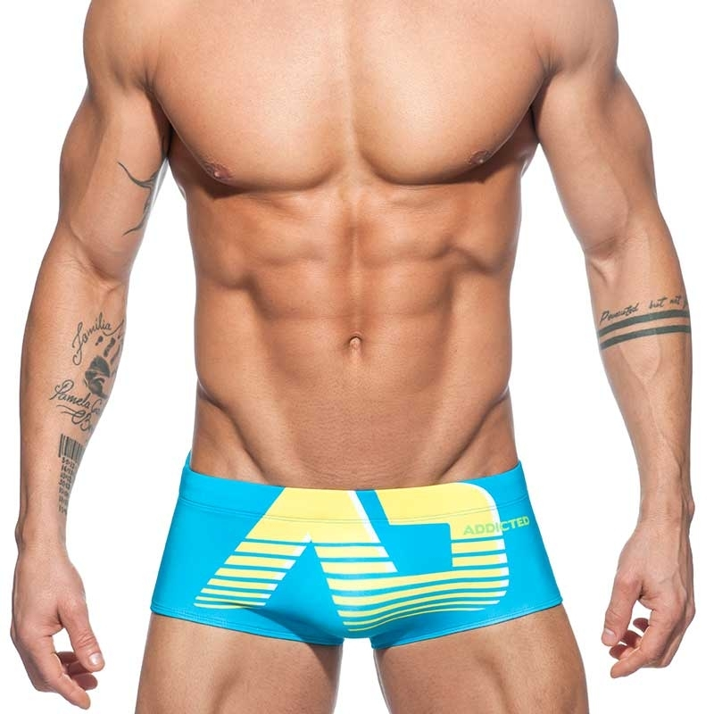 ADDICTED BADEBOXER ad Digital ADS154 basic mini hot Pants in turquoise