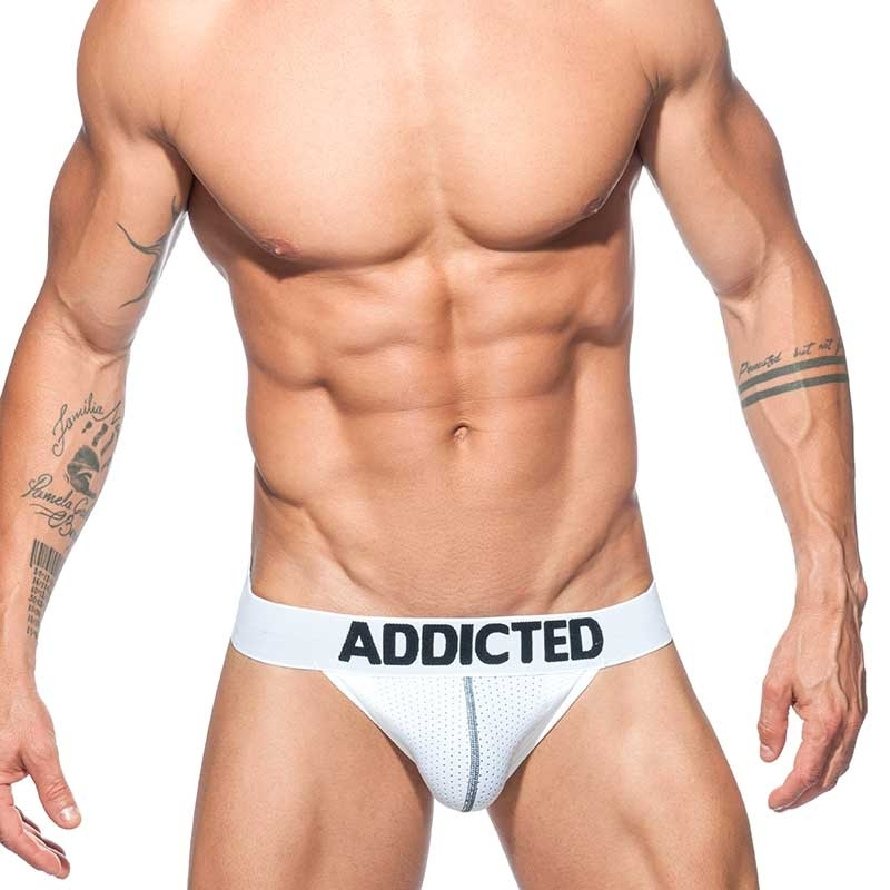 ADDICTED bikini BRIEF mesh AD679P with push-up in white