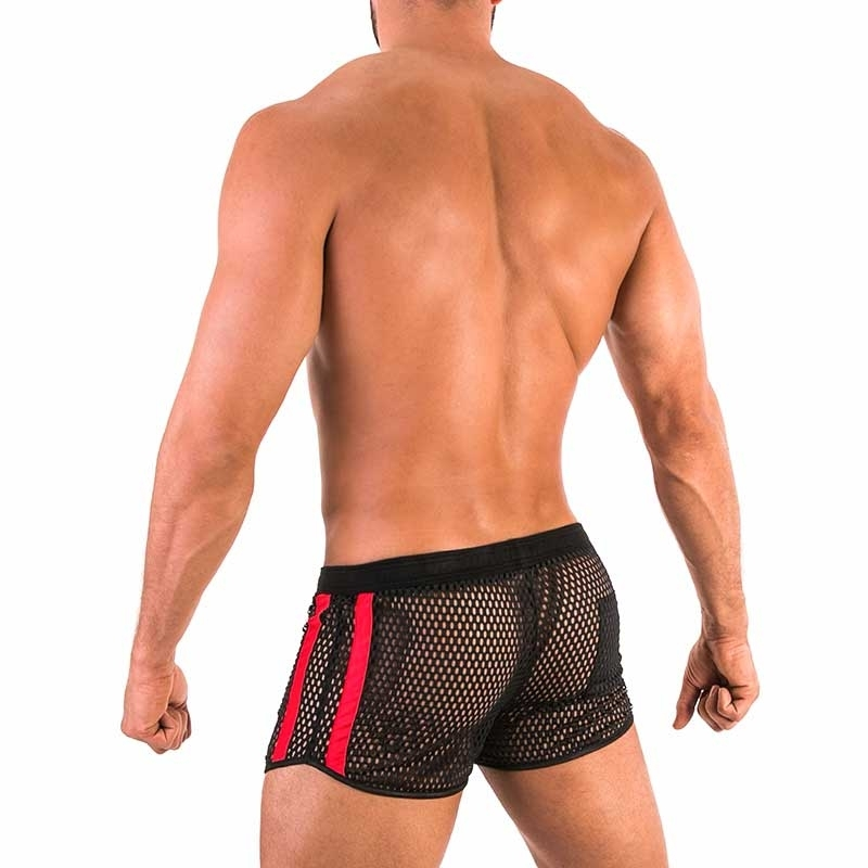 BARCODE Berlin SHORTS big mesh 91570 fetish sport club in red