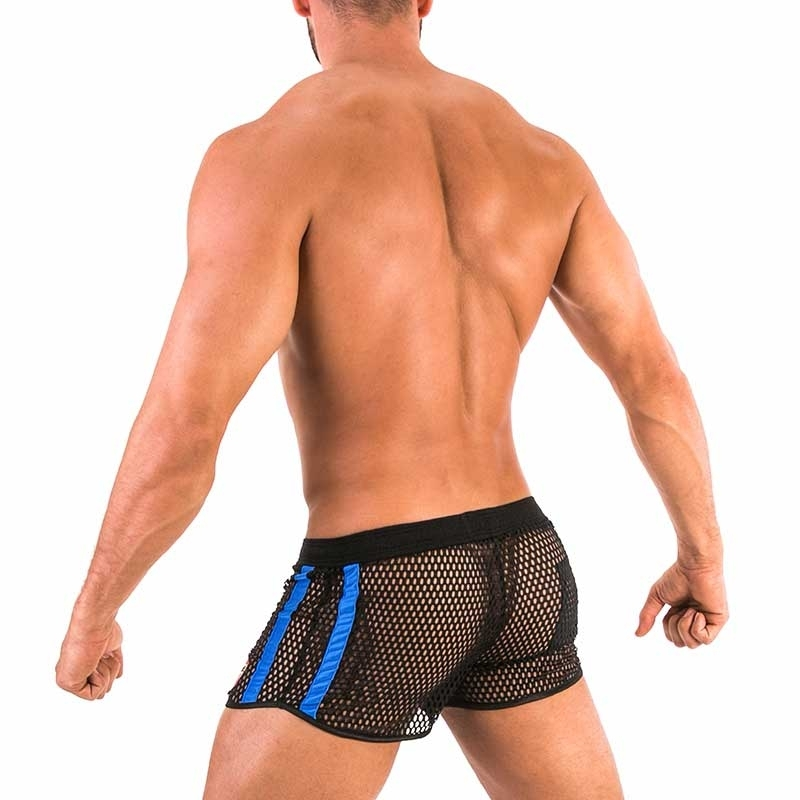 BARCODE Berlin SHORTS big mesh 91570 fetish sport club in blue