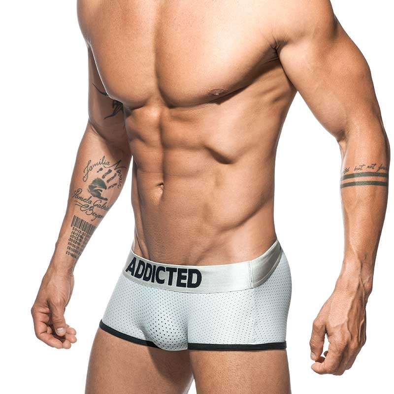 ADDICTED BOXER mesh sunnyboy AD669 in silber
