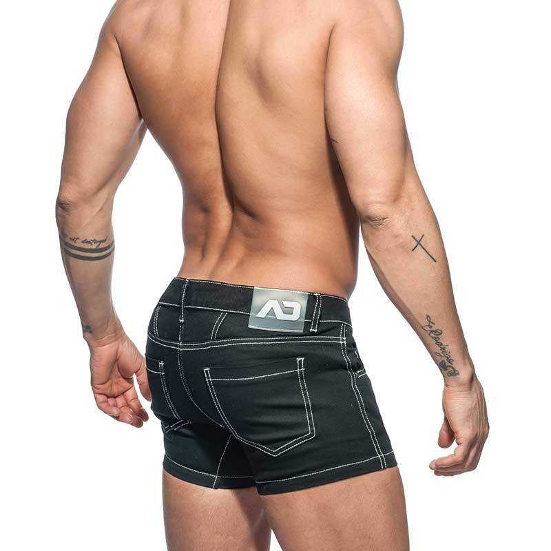 ADDICTED SHORTS twill short AD643 black Jeanshose
