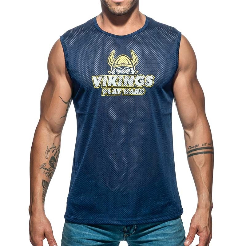 ADDICTED TANK TOP mesh Wikinger AD688 spielen hart morgen in darkblue