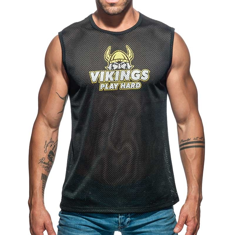ADDICTED TANK TOP mesh Wikinger AD688 spielen hart aktuell in black