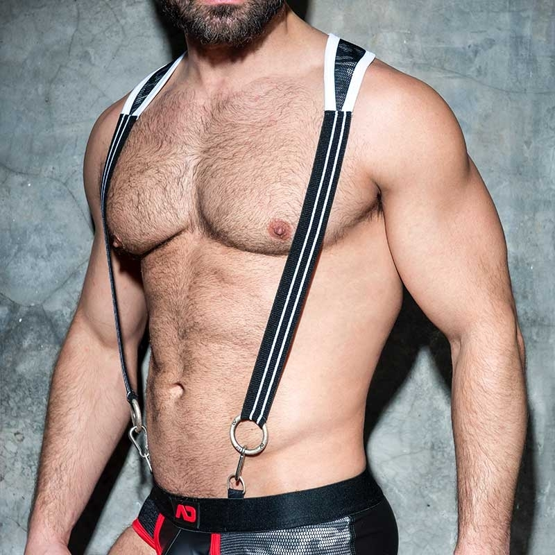 AD-FETISH HARNESS camouflage suspenders ADF86 Karabiner code white