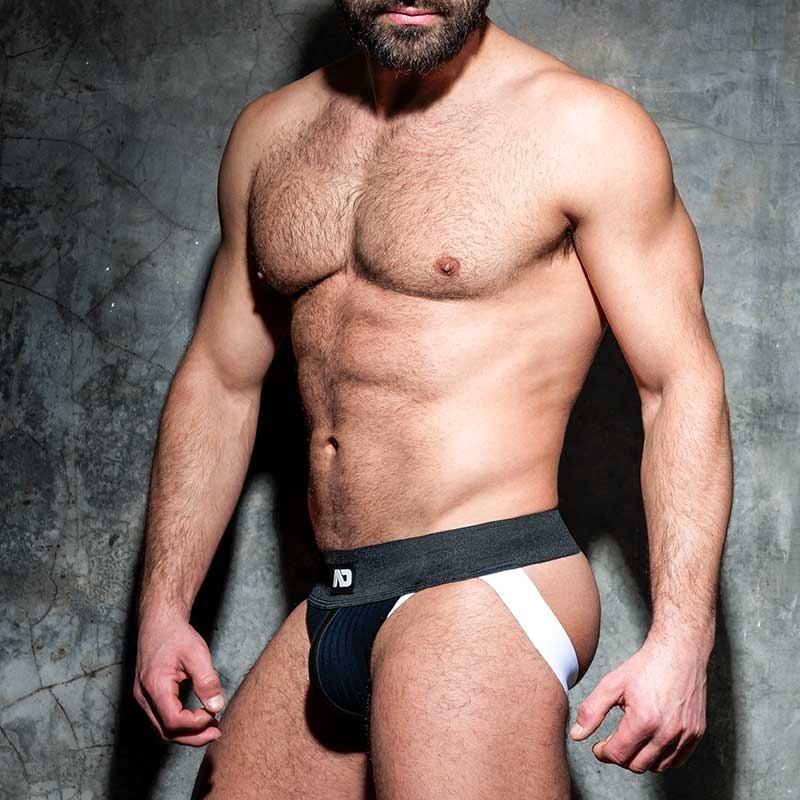 AD-FETISH JOCKstrap big gerippt ADF84 mit Riemen in white