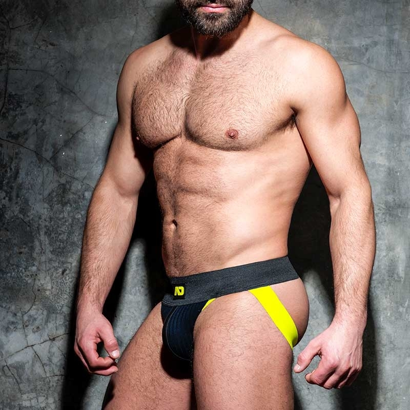 AD-FETISH JOCKstrap big ribbed ADF84 with straps in yellow