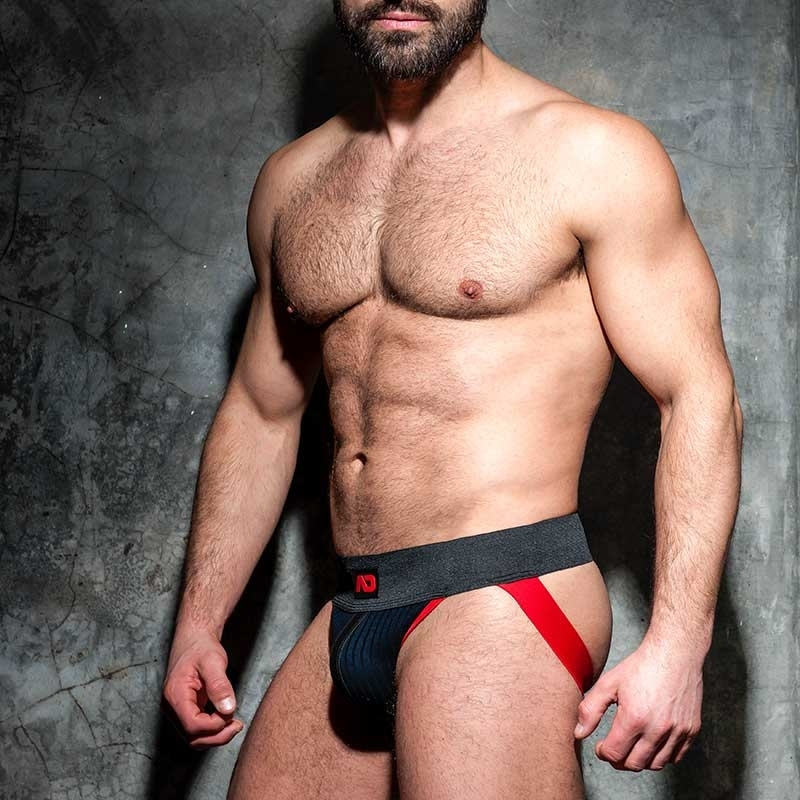 AD-FETISH JOCKstrap big gerippt ADF84 mit Riemen in red