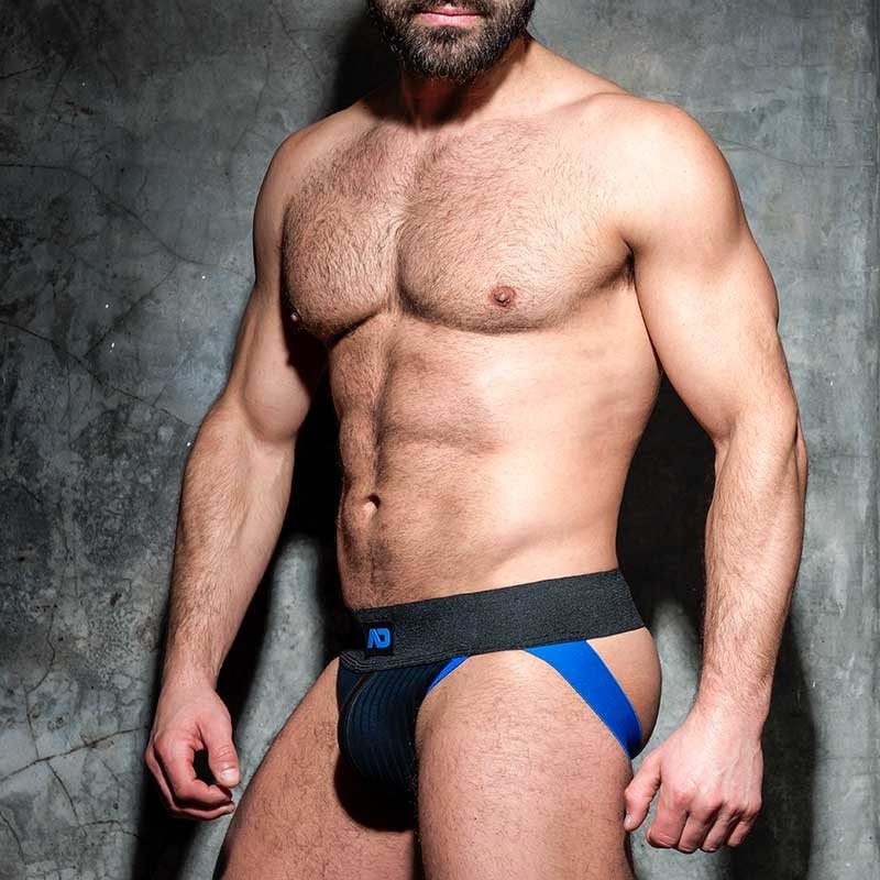 AD-FETISH JOCKstrap big gerippt ADF84 mit Riemen in blue