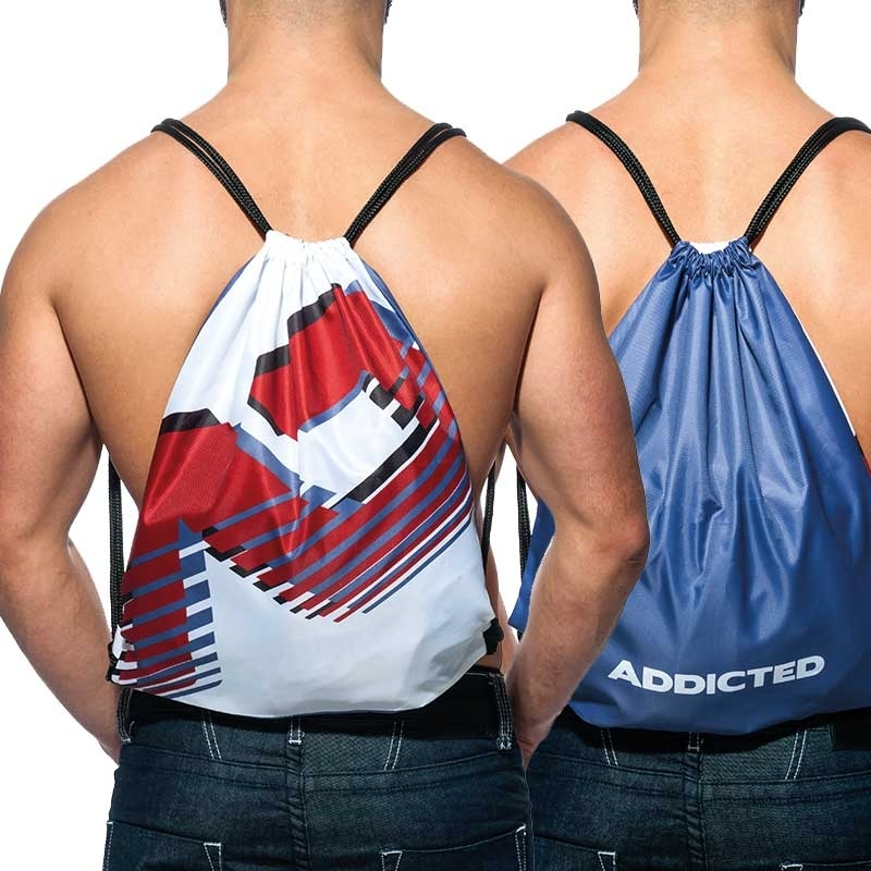 ADDICTED BACKPACK sport AD658 bicolor white-dark blue