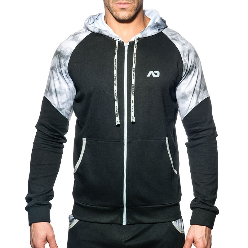 ADDICTED SPORTS JACKET geopack AD615 sporty hoody in black
