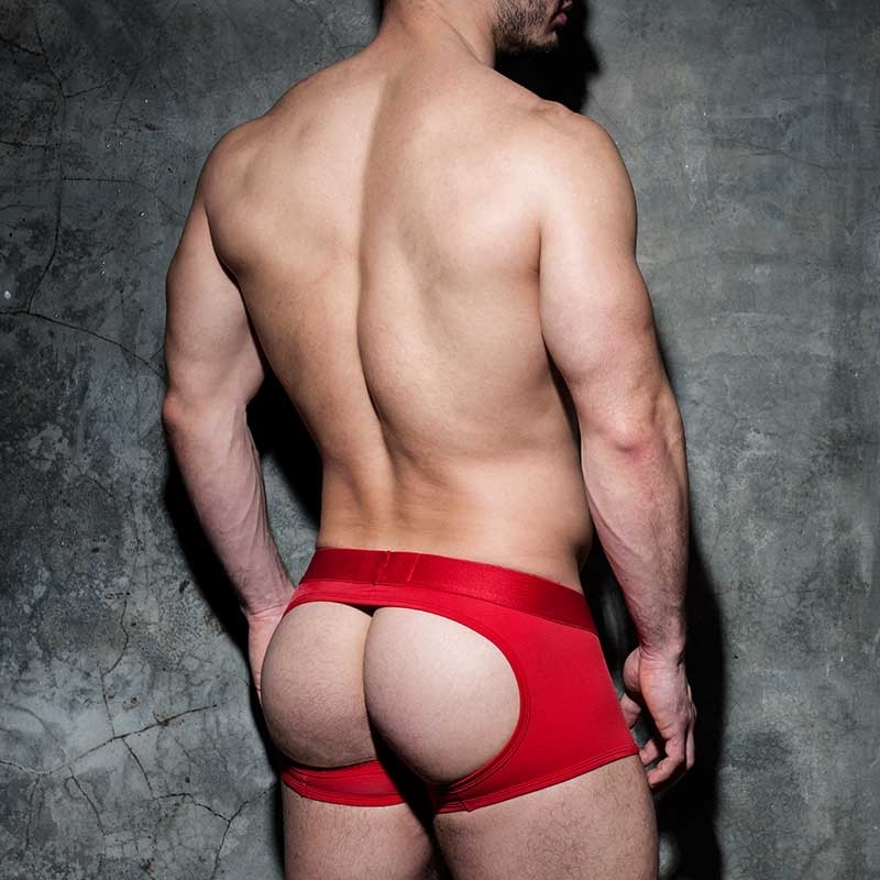 AD-FETISH backless BOXER basic ADF93 unicolor red
