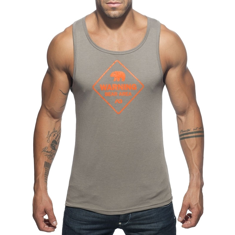 ADDICTED TANK TOP AD572 Bear Area Druck
