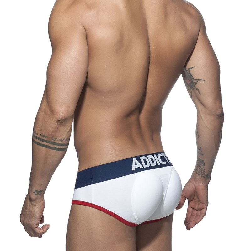 ADDICTED BRIEF 2in1 AD413 Push Up Pouch & Ass in white