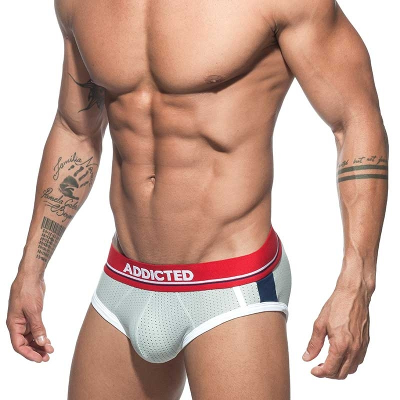 ADDICTED SLIP mesh AD738 sportlich in grau