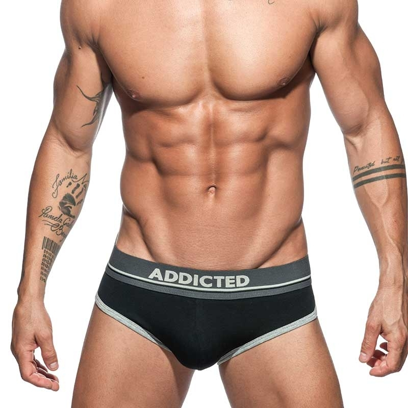 ADDICTED BRIEF wavy AD727 swinging in black