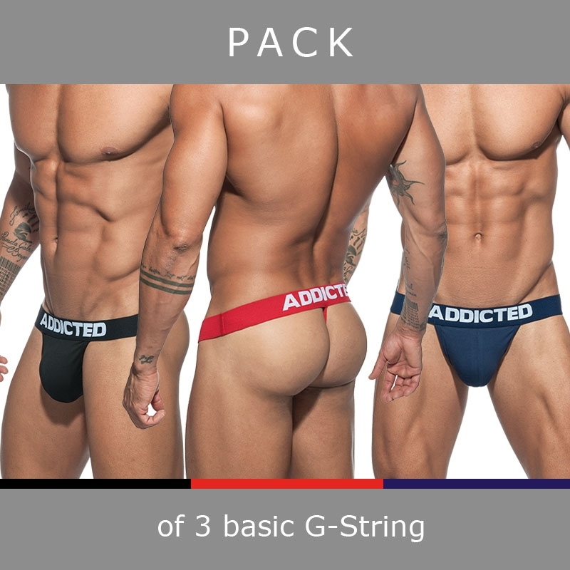 ADDICTED STRING AD746P Push-Up basic im 3er-Sparpack